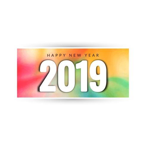 Fondo hermoso feliz año nuevo 2019