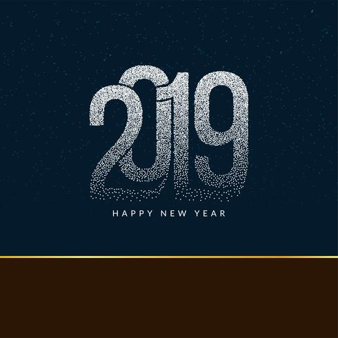 Abstracte gelukkige nieuwe jaar 2019 moderne achtergrond