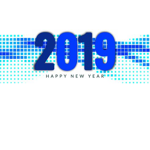 Elegante nieuwe jaar 2019 decoratieve achtergrond