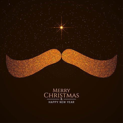 Fondo feliz navidad con bigote de santa