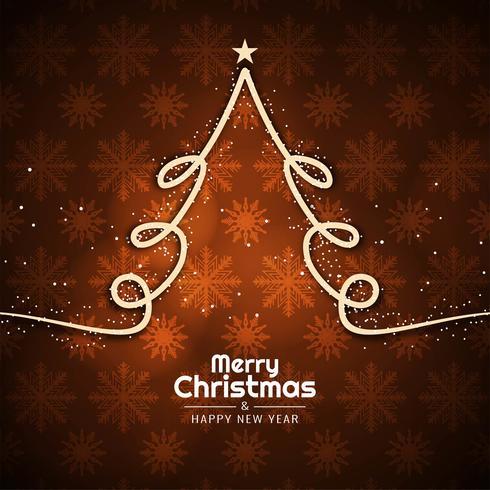 Fondo elegante de la Feliz Navidad con diseño del árbol