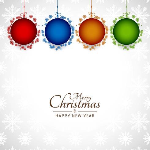 Abstrakt dekorativ elegant Glad jul bakgrund