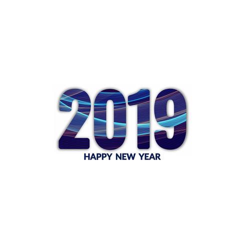Diseño de fondo abstracto año nuevo 2019