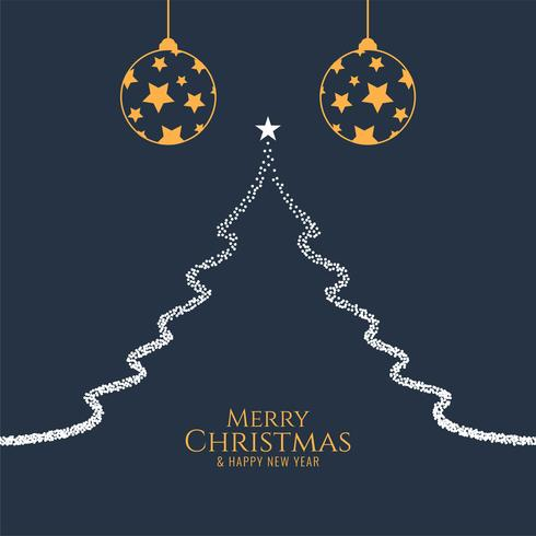 Abstrakter dekorativer Hintergrund der frohen Weihnachten