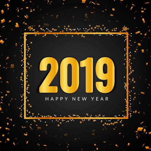 Resumen año nuevo 2019 hermoso fondo