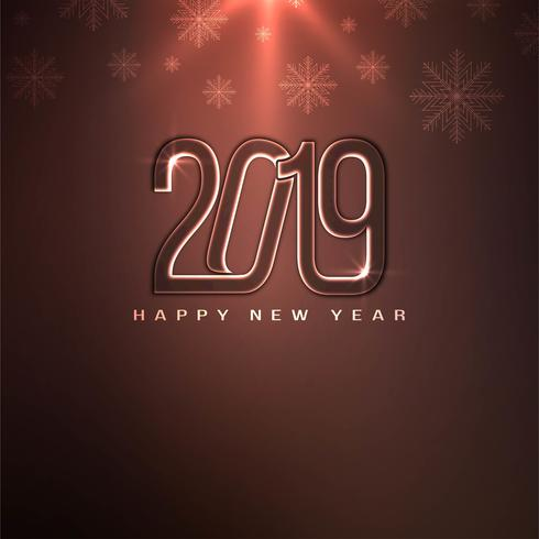 Résumé bonne année 2019 décoratif