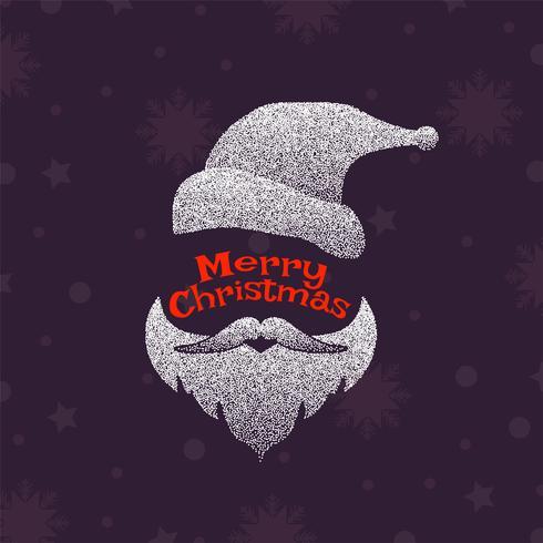 Abstrakt dekorativt God jul prickad julklapp