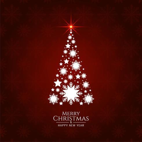 Abstracte Merry Christmas decoratieve boom achtergrond