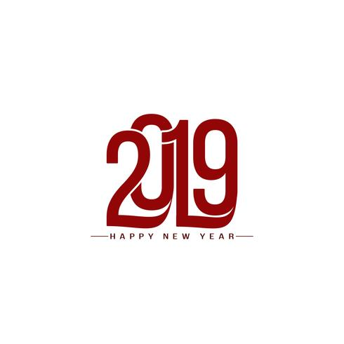 Modernt nytt år 2019 dekorativt textdesign bakgrund