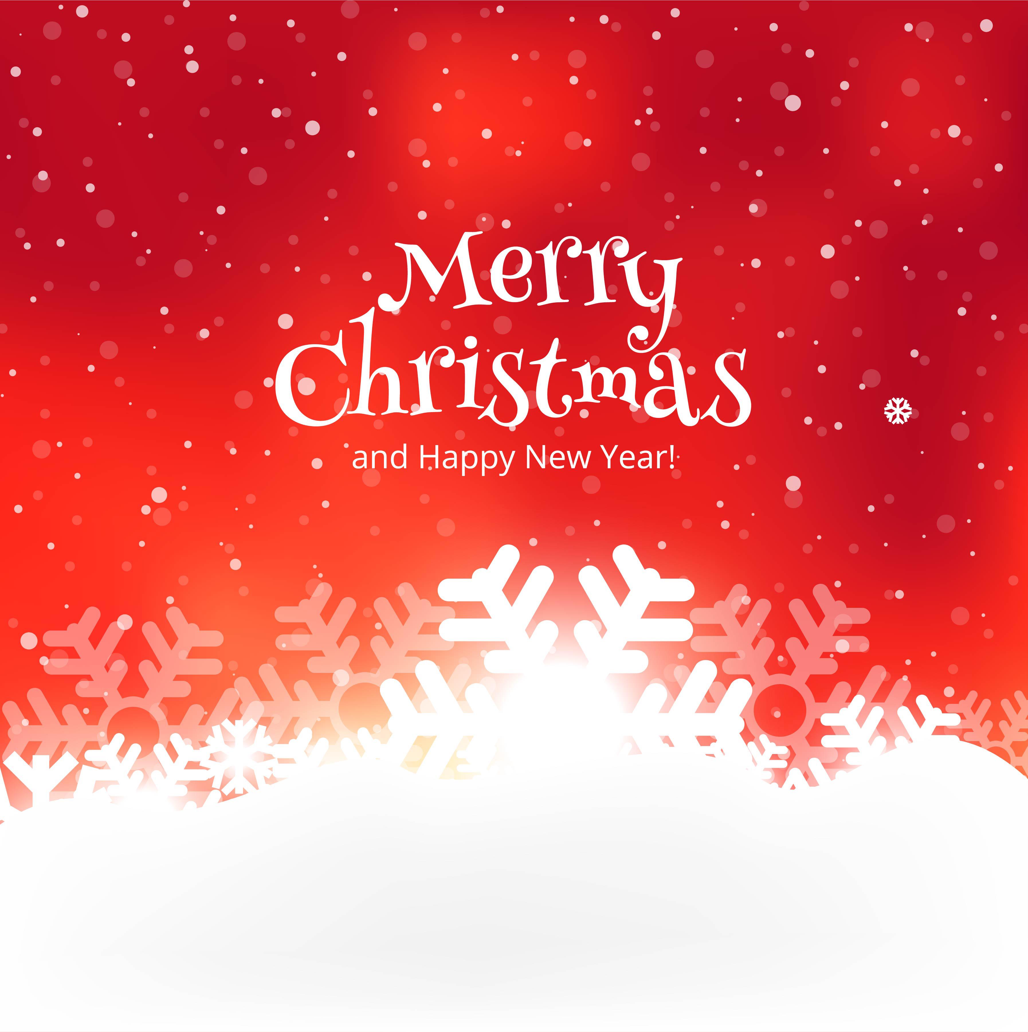 beautiful merry christmas celebration colorful card