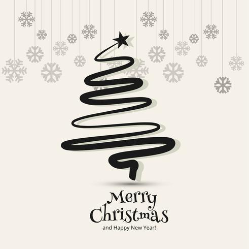 Árvore de Natal feliz com fundo de cartão