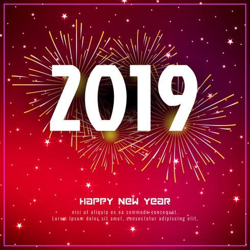 Stilvoller Grußhintergrund des neuen Jahres 2019