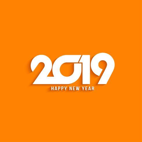 Heller Hintergrund des modernen Textdesigns des neuen Jahres 2019