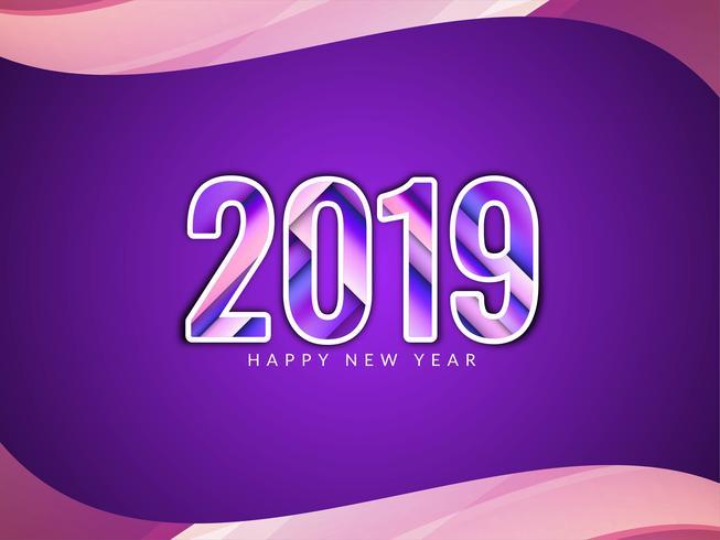 Frohes neues Jahr 2019 Gruß Hintergrund