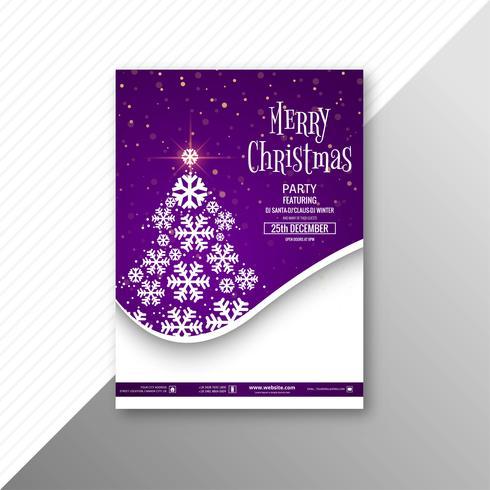 Modèle de brochure carte joyeux Noël célébration vecteur