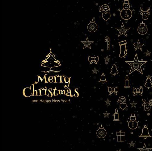 God jul hälsningskort dekorativa bakgrund