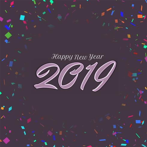 Abstrakt nyår 2019 bakgrundsdesign