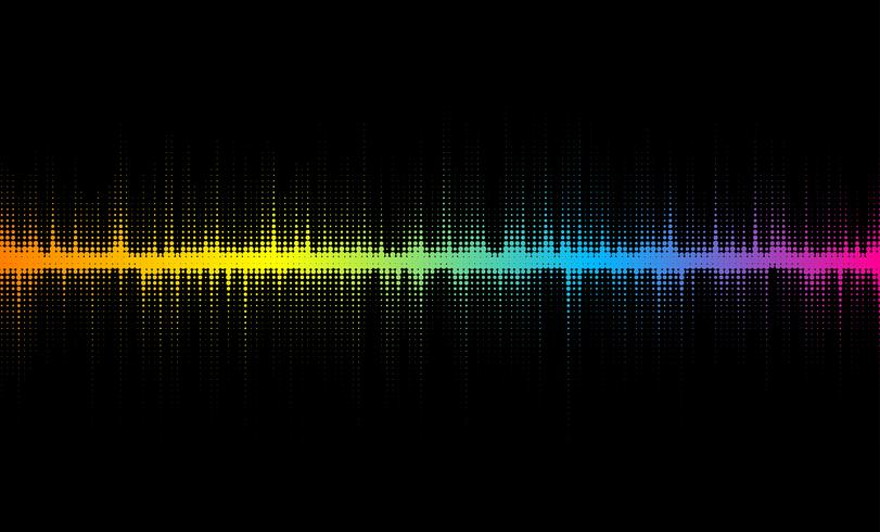 Halftone sound wave design vector