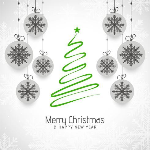 Abstracte Merry Christmas tree decoratieve achtergrond