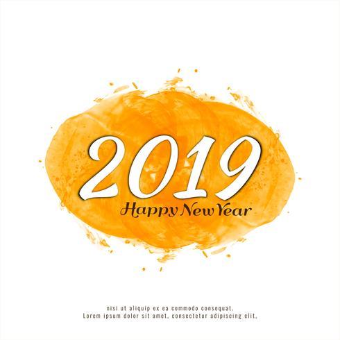 Abstrakt Gott nytt år 2019 färgstark bakgrund