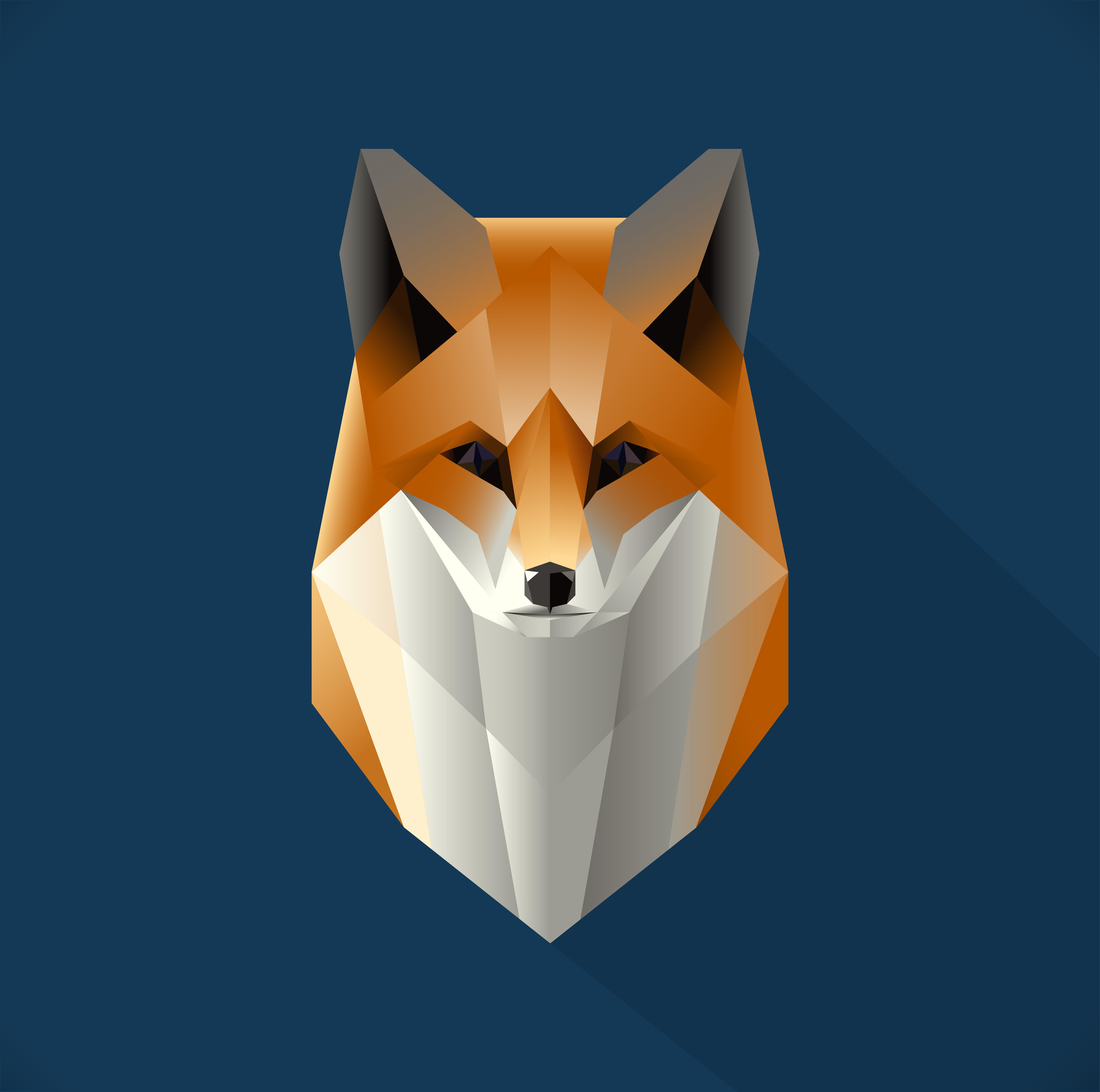 polygon fox illustration