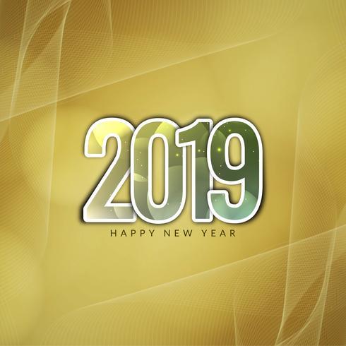 Gott nytt år 2019 dekorativ bakgrund