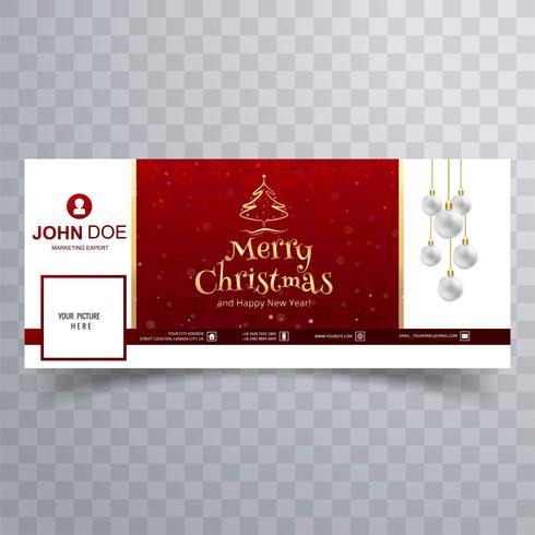 Cartão De Feliz Natal Com O Modelo De Banner De Capa Do