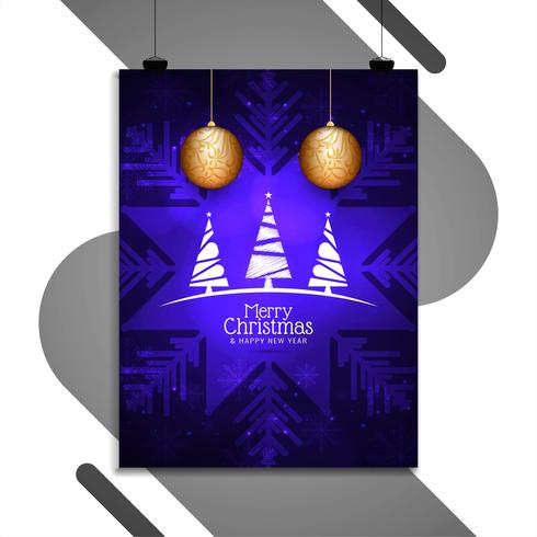 Abstrakte Frohe Weihnachten Party Flyer Vorlage
