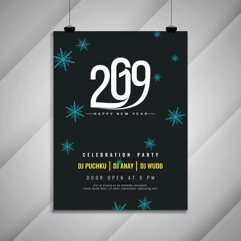 Gelukkig Nieuwjaar 2019 viering partij sjabloon