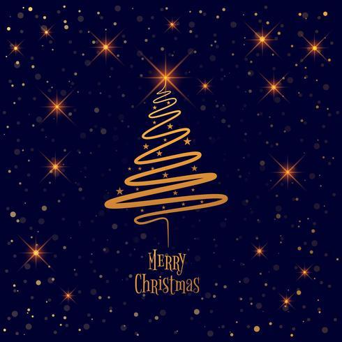 Gott julgran med kort bakgrund