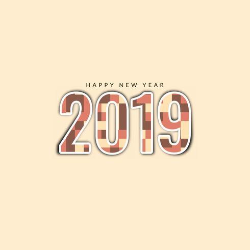Abstracte gelukkig Nieuwjaar 2019 stijlvolle achtergrond