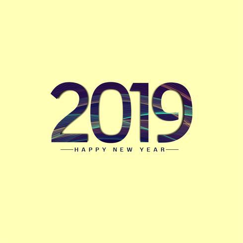 Abstraktes Hintergrunddesign des neuen Jahres 2019