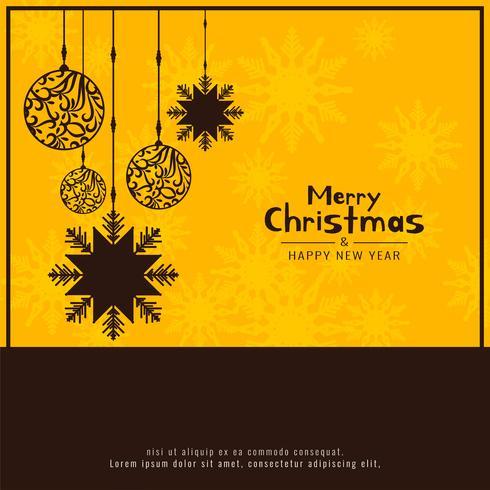 Abstracte Merry Christmas decoratieve feestelijke achtergrond vector