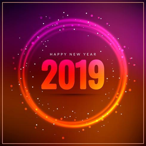 Abstrakter guten Rutsch ins Neue Jahr 2019 stilvoller Hintergrund