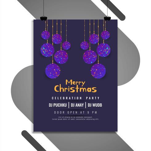 Abstrakt Merry Christmas elegant flygbladmall