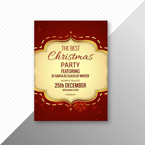 Beautiful Merry Christmas Card Template Brochure Design Download