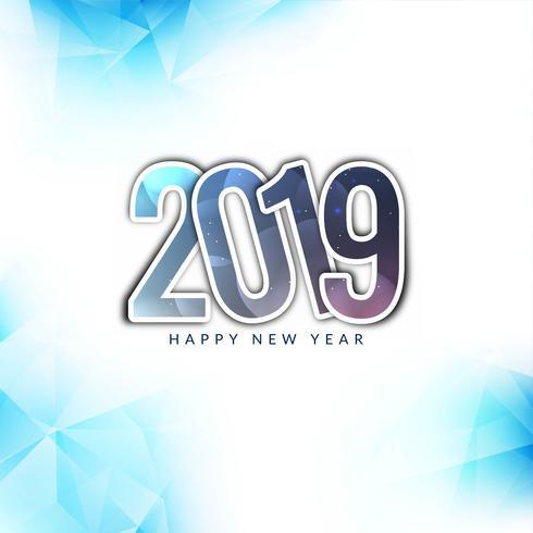 Gott nytt år 2019 färgglatt hälsning bakgrund