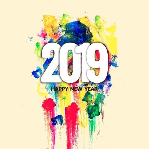 Abstrakt modernt nytt år 2019 dekorativt bakgrund