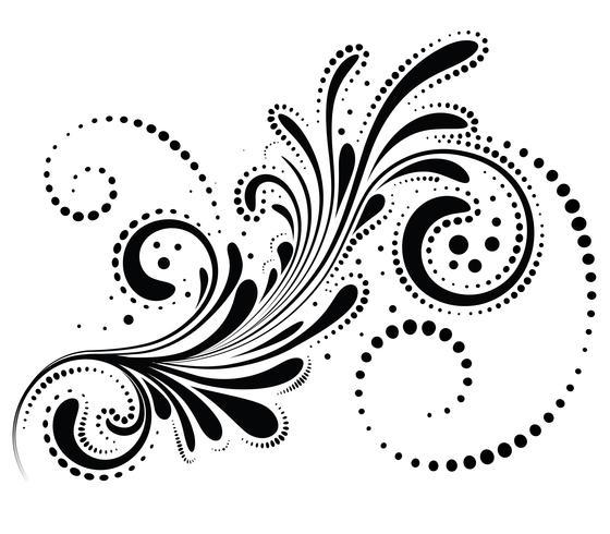 Elemento de diseño floral