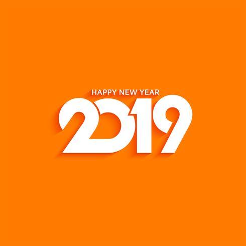 Moderner Hintergrund des abstrakten Textdesigns des neuen Jahres 2019