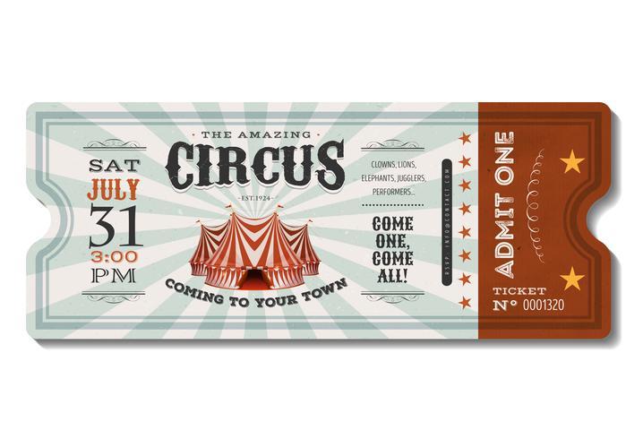 Billet Vintage Circus vecteur