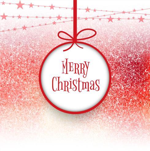 Bola de Natal feliz com fundo colorido cartão