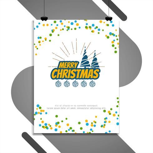 Abstrakt God jul dekorativ broschyr design