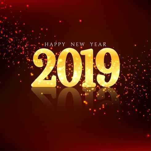 Guten Rutsch ins Neue Jahr 2019 eleganten Hintergrund
