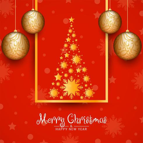 Abstracte decoratieve Merry Christmas-achtergrond