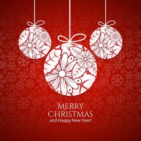 God julkula med färgstarka kortbakgrund
