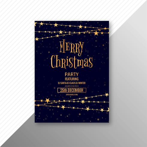 Merry christmas viering kaart brochure sjabloon
