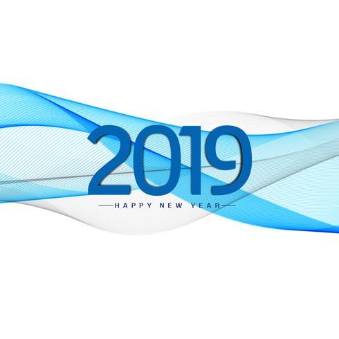 Abstrakt stilfull nyår 2019 hälsning bakgrund