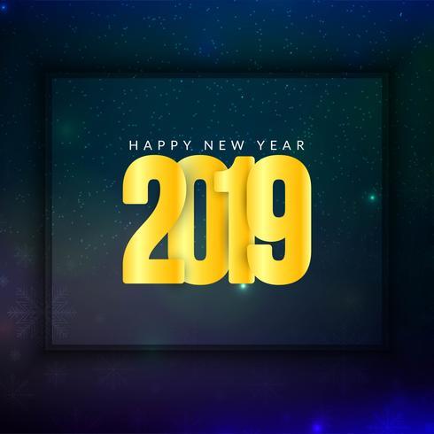 Abstrakt Gott nytt år 2019 modern bakgrund
