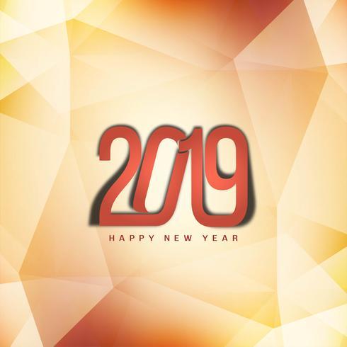 Gott nytt år 2019 dekorativt elegant bakgrund